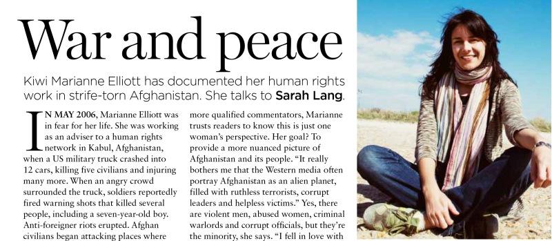 Marianne Elliott, Australian Women's Weekly, April 2012
